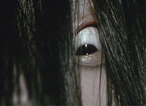 Sadako from Ring gives you the evil eye