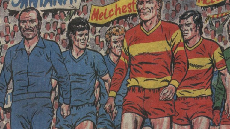 Roy Of The Rovers leads his team out