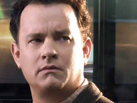 Tom Hanks. Looking puzzled.