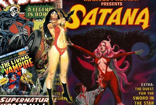 Vampirella, Satana a.k.a. Judith Camber, Ghost Rider and Morbius comics
