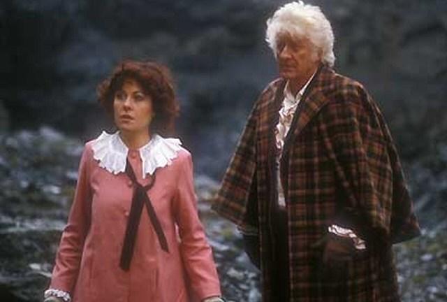 Elisabeth Sladen and Jon Pertwee in The Five Doctors