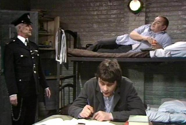 Fletcher and Godber getting through another long night in the BBC's Porridge