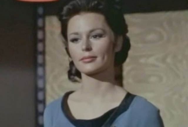 Marianna Hill as Dr. Helen Noel in 'Dagger Of The Mind'