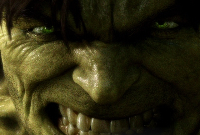 The new face of the Hulk is going down well...