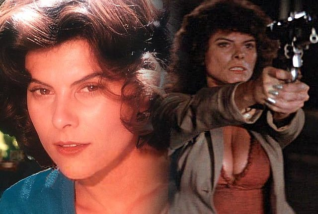 Adrienne Barbeau in the 1970s and as Maggie in Escape From New York (1980)