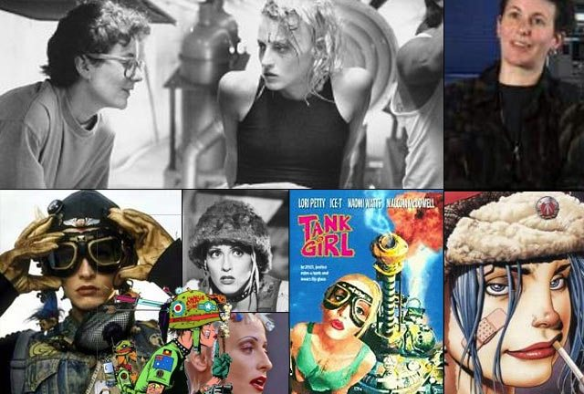 Rachel Talalay directs Lori Petty in Tank Girl (top left).