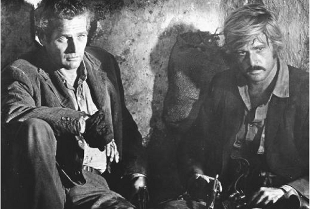 The late Paul Newman, seen here with Robert Redford