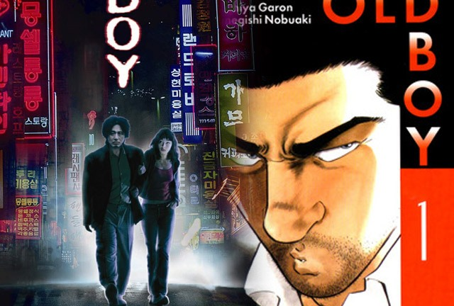 Oldboy - going for the manga roots, not the previous version (left)