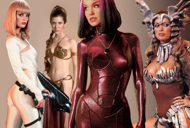 Top 50 sexy sci-fi costumes - Sybil Danning, Carrie Fisher, Dorothy Stratten