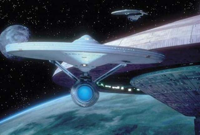 That bloke from Hill Street Blues chasing the Enterprise.
