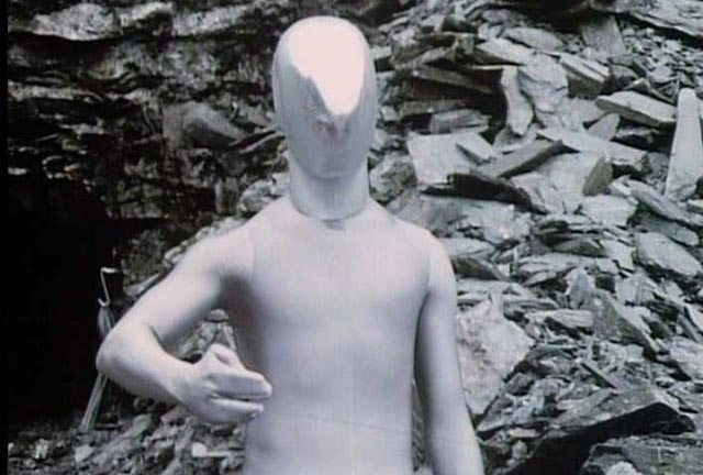 The Raston robot from The Five Doctors - a still picture doesn't do it justice.