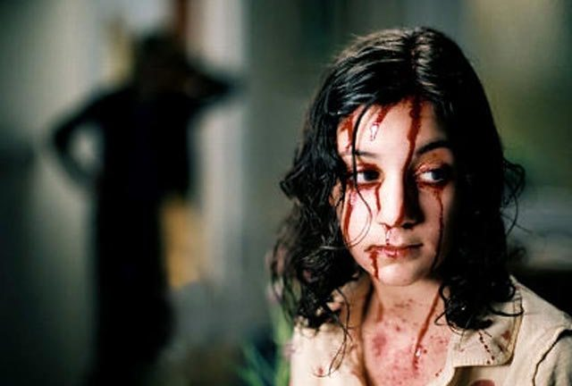 Lina Leandersson crosses the line in Let The Right One In.