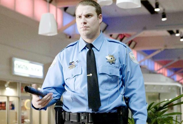 Seth Rogan on patrol in Observe And Report