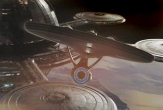 The Enterprise: zooming our way in May 2009...