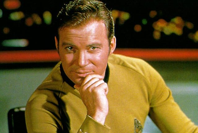 The Kirk smirk - a winning smile when the phasers don't work!