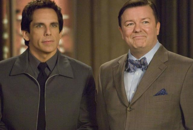 Ben Stiller and Ricky Gervais in Night At The Museum: Battle Of The Smithsonian.