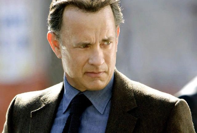 Tom Hanks looking a bit worried at the less-than-heavenly performance of the sequel to The Da Vinci Code.