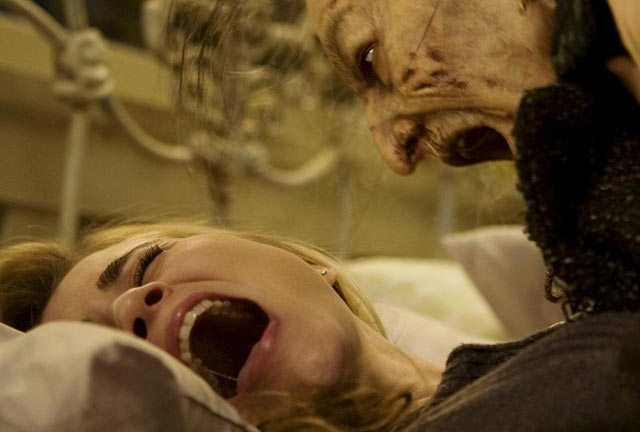 Alison Lohman takes it lying down in Drag Me To Hell...