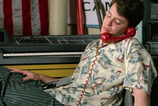 Take it easy, Ferris. We know that you will…