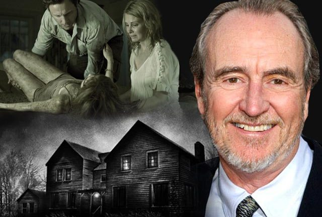 Wes Craven. Inset: Tony Goldwyn and Monica Potter attend daughter Sara Paxton in Last House On The Left (2009).