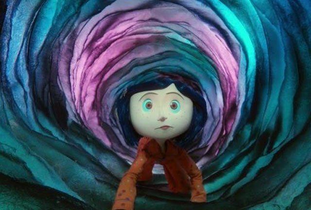 Dakota Fanning voices Coraline.