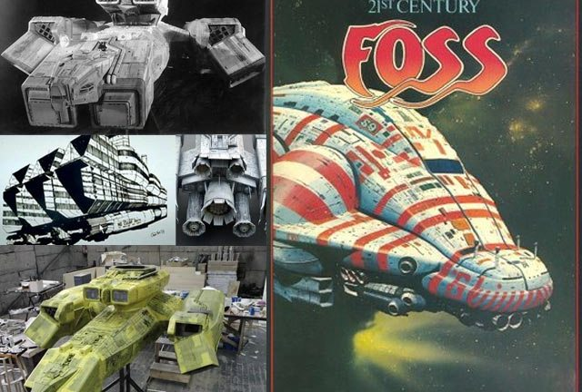 Foss's various Nostromo designs, and the craft as seen in the film