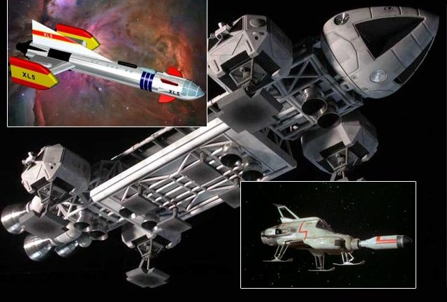 Some of the great spaceships from Gerry Anderson shows