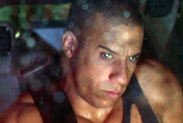Vin Diesel leaving the weak behind in Pitch Black (2000). That's a bit more bloody like it.