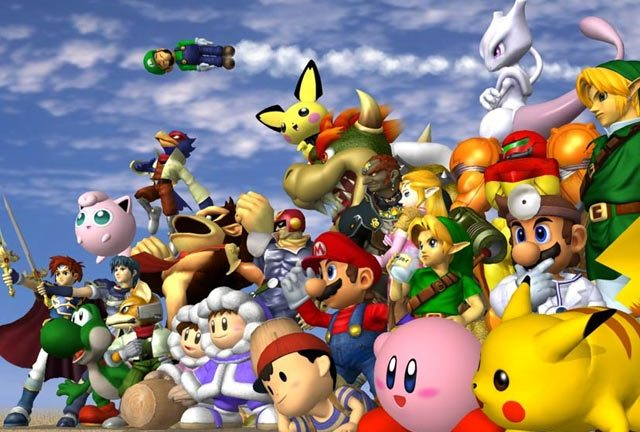 Super Smash Bros - the gang's all here and ready to party...