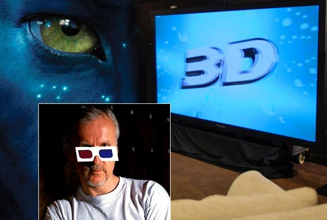 James Cameron voting 3D with Avatar - and the huge and high-priced Panasonic set-up he's pushing.