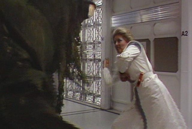 Ingrid squares off against £32 of BBC special effects in Warriors Of The Deep (Doctor Who, 1984)
