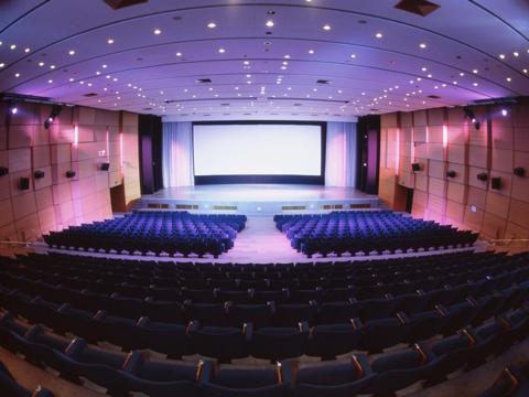 The inside of a cinema