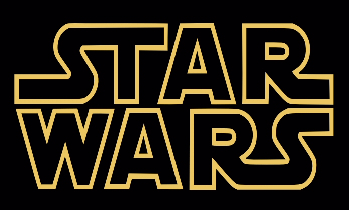 The Star Wars logo.