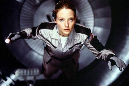 Jodie Foster in Contact. A mess of a film...
