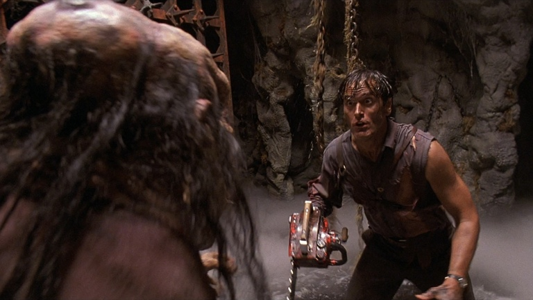 Bruce Campbell as Ash in Army of Darkness