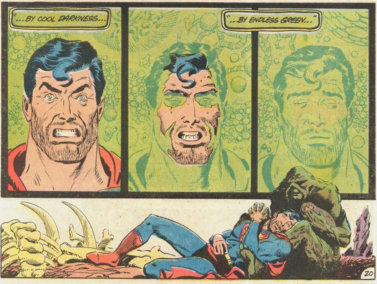 Superman and Swamp Thing Comic Panel by Alan Moore