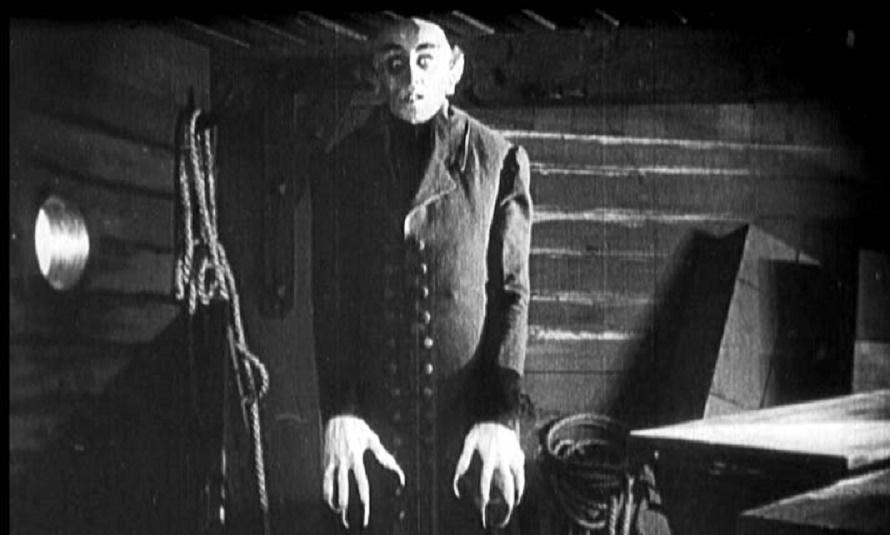 Max Schreck como el conde Orlock en Nosferatu