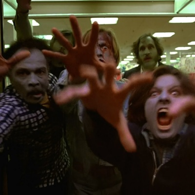 Zombies attack in Dawn of the Dead