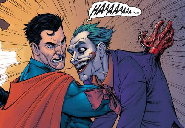 A still from the Injustice Comics