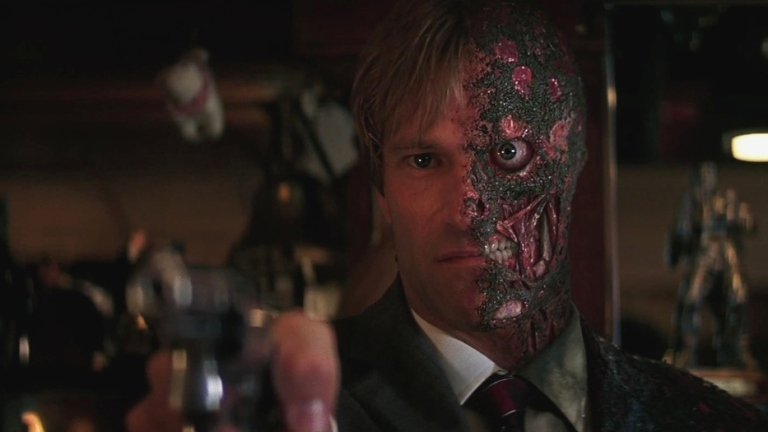 Aaron Eckhart As Two-Face In The Dark Knight