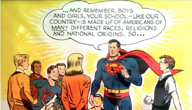 Superman Stands Up to Racism