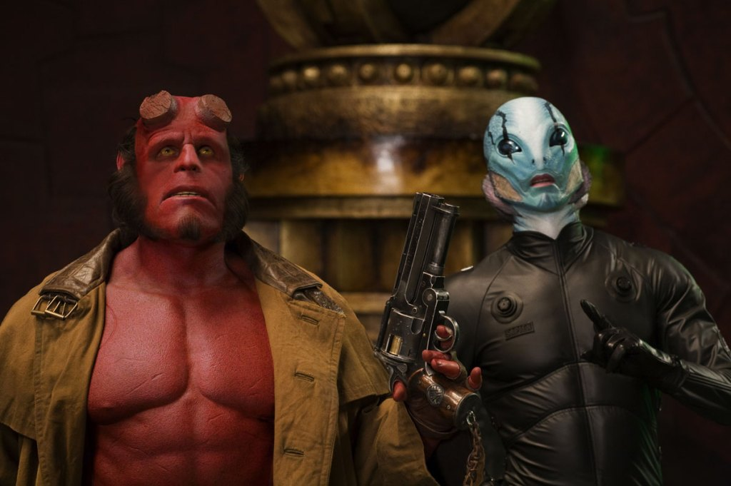 Ron Perlman and Doug Jones in Guillermo del Toro's Hellboy