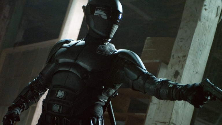 Ray Park as Snake Eyes in G.I. Joe: Retaliation; Paramount Pictures