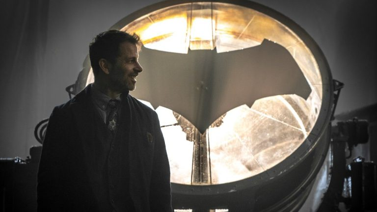 Zack Snyder on the Set of Justice League
