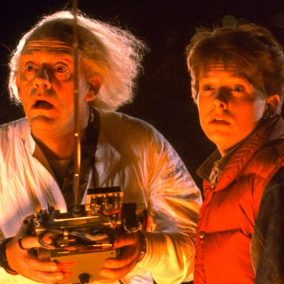 Doc and Marty in Back to the Future