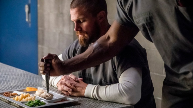 Arrow Season 7 Episode 1 Review Inmate 4587 Stephen Amell Oliver Queen