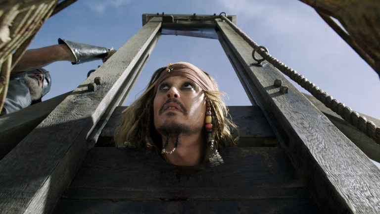 Pirats of the Caribbean Dead Mean Tell no Tales Jack Sparrow Guillotine