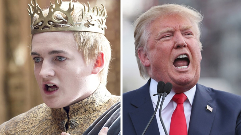 Game of Thrones Donald Trump Joffrey