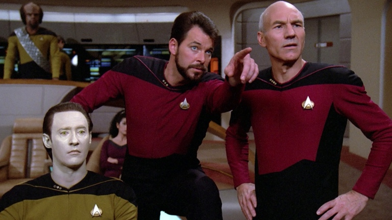 Star Trek: The Next Generation Commander Riker and Captain Picard