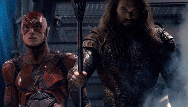 The Flash and Aquaman in the Justice League movie